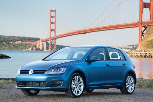 2015 Volkswagen Golf, photographed in front of America's gay liberal capitol. A not-so-subtle message, perhaps?